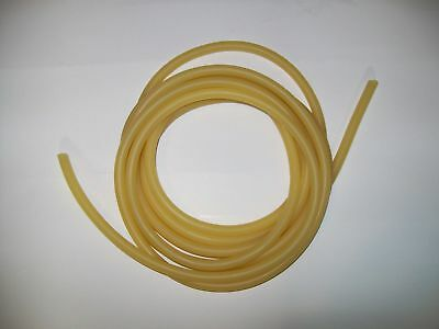 """4 foot cut 1/8"""" I.D x 1/32"""" wall x 3/16"""" O.D Surgical Latex Tubing Amber Rubber"""