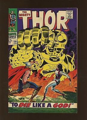 Thor 139 VF+ 8.5 * 1 Book Lot * 2 Stories by Stan Lee & Jack Kirby!