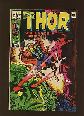 Thor 161 VF 7.5 * 1 Book Lot * Ego the Living Planet! Stan Lee & Jack Kirby!