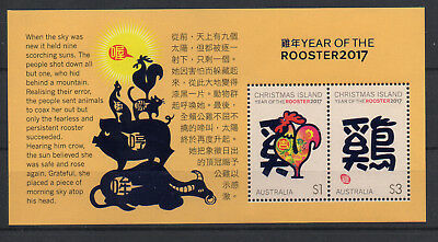 Christmas Is. - Year of the Rooster MNH Minisheet