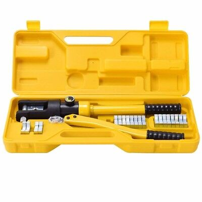 Goplus 16 Ton Hydraulic Wire Terminal Crimper Battery Cable Lug Crimping Tool