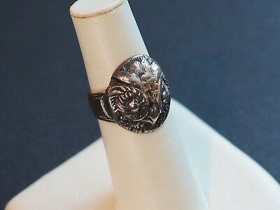 Vintage Owl Ring With London Hallmarks Sterling Silver 6.28g. - Size 7 1/2