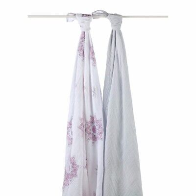 Aden and Anais Classic Muslin Cotton Baby Swaddle Blanket Wrap The Birds 2 Pack