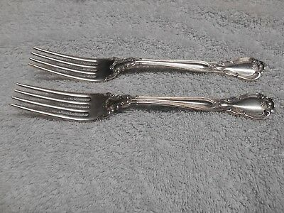 "Lovely Pair of Gorham Chantilly Pattern Sterling Silver 7"" Forks NO MONO"