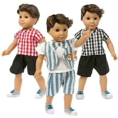 Cute Pajamas Two Suits Dolls Clothes for 18 inch Boy Supply