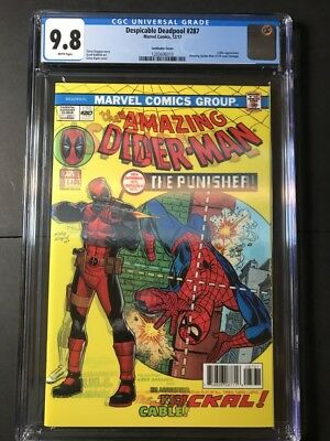 Despicable Deadpool #287 CGC 9.8 Lenticular, Amazing Spider-Man 129 homage!