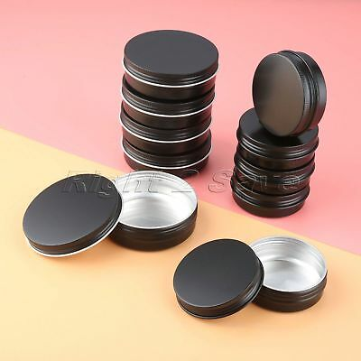 5pcs 60ml/100ml Cosmetic Empty Jar Pot Cream Lip Balm Bottle Container Tin Case