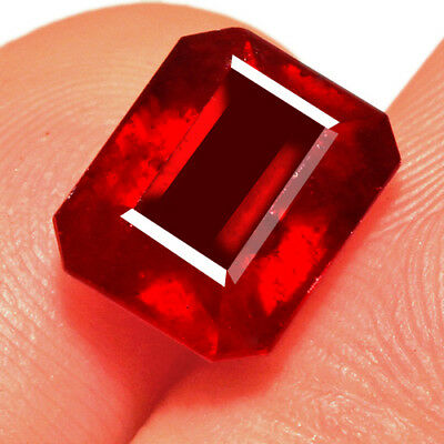 5Ct Natural Mozambique Pigeon Blood Red Ruby Faceted Cut UQHB193