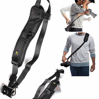 K Single Shoulder Sling Belt Strap For DSLR Digital SLR Camera Quick Rapid Base