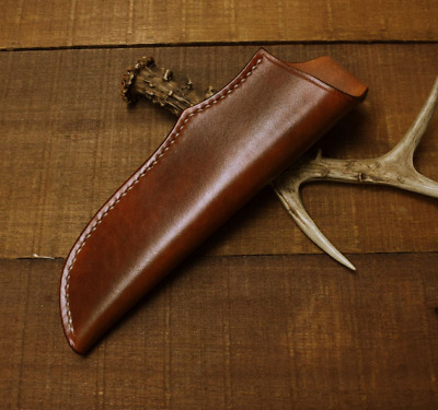 knife blade sheath cover scabbard case bag cow leather customize brown Z993
