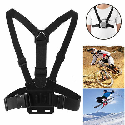 Body Chest Strap Harness For GoPro Hero Mount Support Sports Action Camera UK