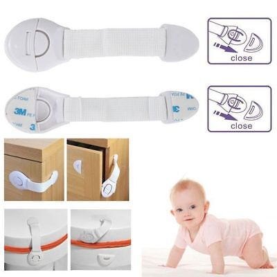 10 X Baby Kid Child Safety Lock Proof Cabinet Drawer Fridge Pet Cupboard Door UK