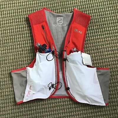 *NEW* Salomon S/Lab Sense 2 Litre Set Race Vest - XL White Red - Ultra Marathon
