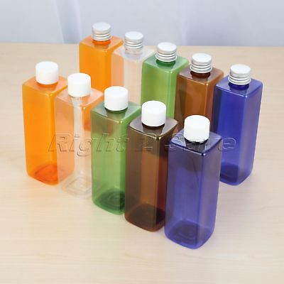 250ml Travel PET Refillable Lotion Bottle w Inner Plug Cosmetic Cream Container