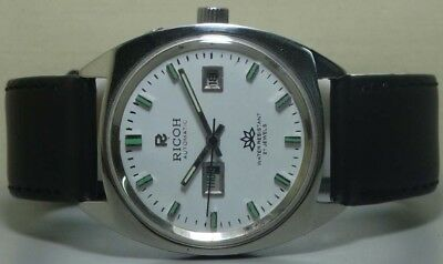 Vintage Ricoh Automatic Day Date Mens Wrist Watch r908 Old Used Antique