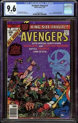 Avengers Annual # 7 CGC 9.6 White (Marvel, 1977) Thanos cover & appearance