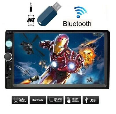 """Autoradio 2 Din 7"""" Player Mp5 TOUCH SCREEN STEREO BLUETOOTH USB SD AUX - NO GPS"""