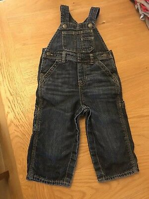 Baby Gap Denim Dungarees Age 18-24 Months In Good Condition
