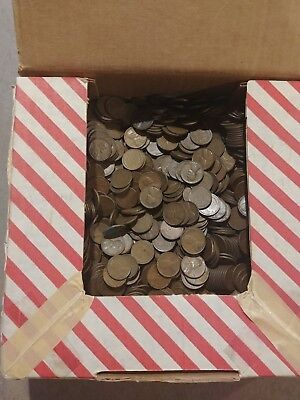 Large lot of wheat pennies