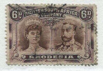 Rhodesia KGV 1905 Double Heads 6d  used