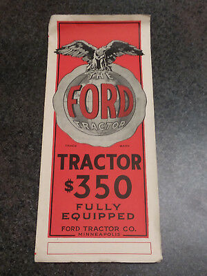 Very Rare 1915 William Ewing First Ford Tractor Brochure and More! Fordson