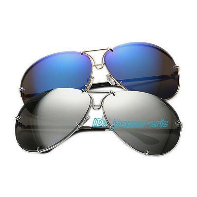 Mens Women Pilot Sunglasses Classic Shades 80s Retro Vintage UV400 Sun Glasses