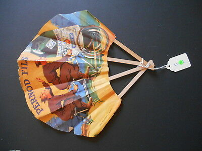 Old Advertising FAN for Pernod Fils cycling drinks éventail ventaglio abanico