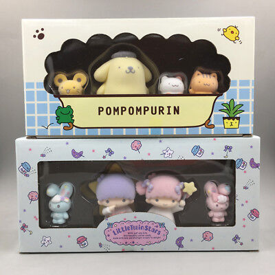 lot of 8 Cute Little Twin Stars Figures Play Toy Doll Cake Toppers Set 4-6cm