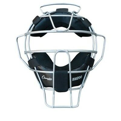 Champion BM200 18 oz. Lightweight Baseball / Softball Umpires Face Mask, Silver