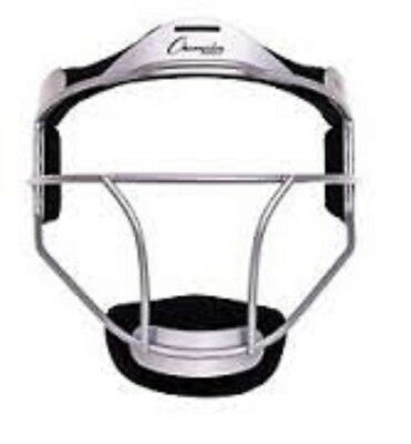 Champion Sports Softball YOUTH Pitcher's / Fielder's Mask, Wide Vision, Silver