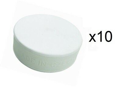 A&R Sports Ice Hockey Goalie 6 oz Training Puck, White, Improves Focus - 10 Pack