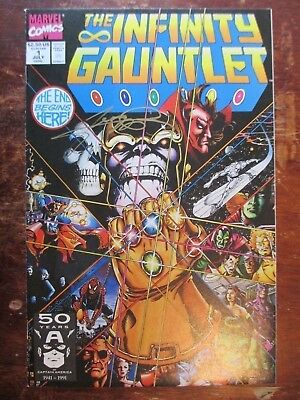 Infinity Gauntlet 1 of 6 Limited Series Signed by George Perez   Higher Grade