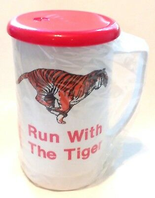 "Vintage! New EXXON Gasoline ""Run With The Tiger"" Travel Coffee Mug! FREE S/H!"