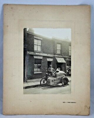 Rare Antique 19th Century Photograph of W.M Coulman Seed Merchant Sheerness Kent