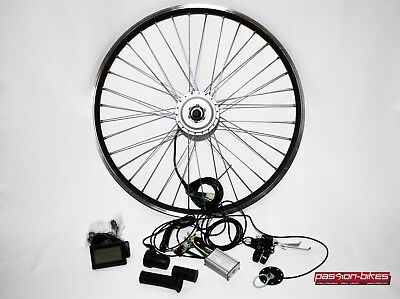 "E-Bike / Pedelec Vorderrad Umbausatz Kit 250 Watt Front Motor 28"" ~ KT3 Display"
