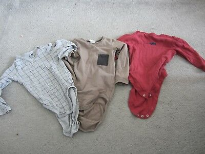 3 long sleeved baby vests, 9 - 12 MONTHS