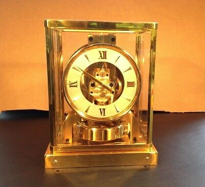 Jaeger LeCoultre Atmos Model 526-5 Mantel Clock- Working! Keeps Good Time!