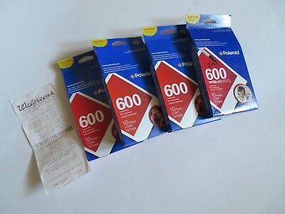 Polaroid Film: 4 10-packs of 600 film with receipt NIB