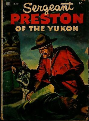FOUR COLOR 419 SERGEANT PRESTON OF THE YUKON- painted cover