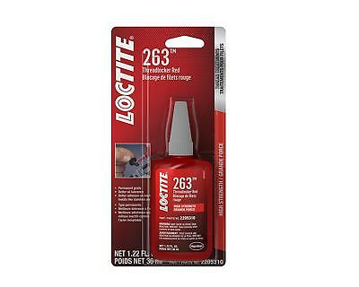Loctite 2205310 263 Threadlocker Surface Insensitive (Red, 36 ml Bottle)