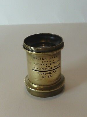 Antique Walter Lawley brass camera lens