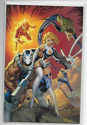 Fantastic Four # 1 Jscott Campbell Virgin Variant 2018
