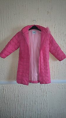 Girl's Pink Moschino Winter Jacket Age 5
