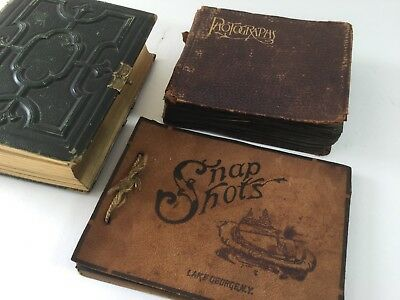 LOT of 3 Small Vintage Snapshot albums (1920s - 1940s) with 170+ Photos