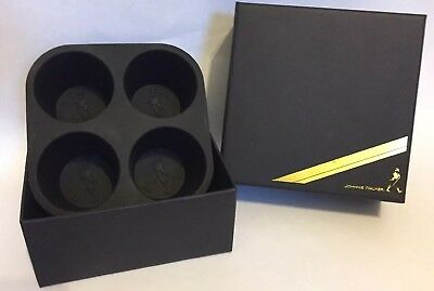 Johnnie Walker Whisky Ice Cube ROUND Silicone Mold Tray + Collector Box