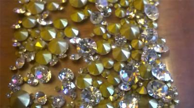 100 Crystal Clear Rhinestones cut glass replacement jewellery stones chatons
