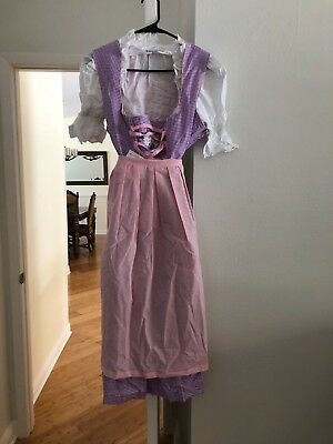 oktoberfest dirndl dress authentic size 44 pink and purple new with tags!