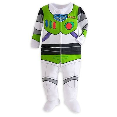 NWT Disney Store Buzz Lightyear Stretch Footed Costume Pajamas Toy Story Pjs