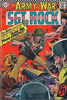 """Dc Comics - Our Army At War Sgt. Rock - #176 - Feb 1967 - """"give Me Your Stripes"""""""