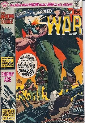 Dc Comics Star Spangled War Stories #152-Aug/sept 1970-Enemy Ace/unknown Soldier